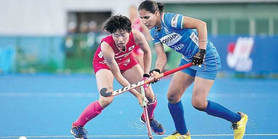 Gurjit Kaur (R) finished as top scorer of the FIH Series Finals with 11 strikes
