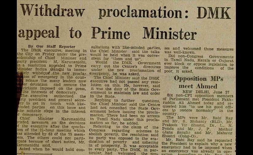 1975 Emergency, Indian Express