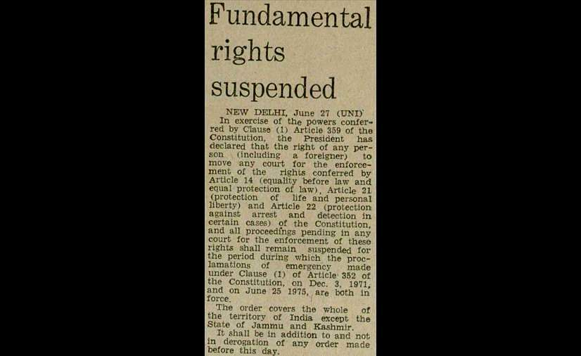 1975 Emergency, Indian Express