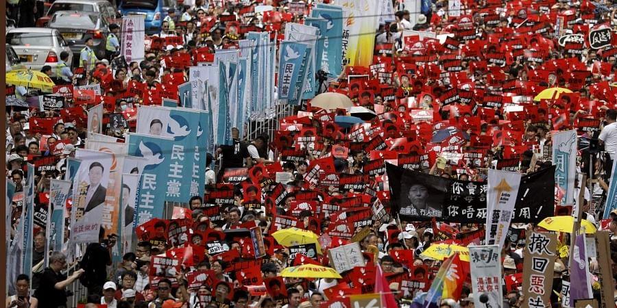 Hongkong protests over extradition bill.