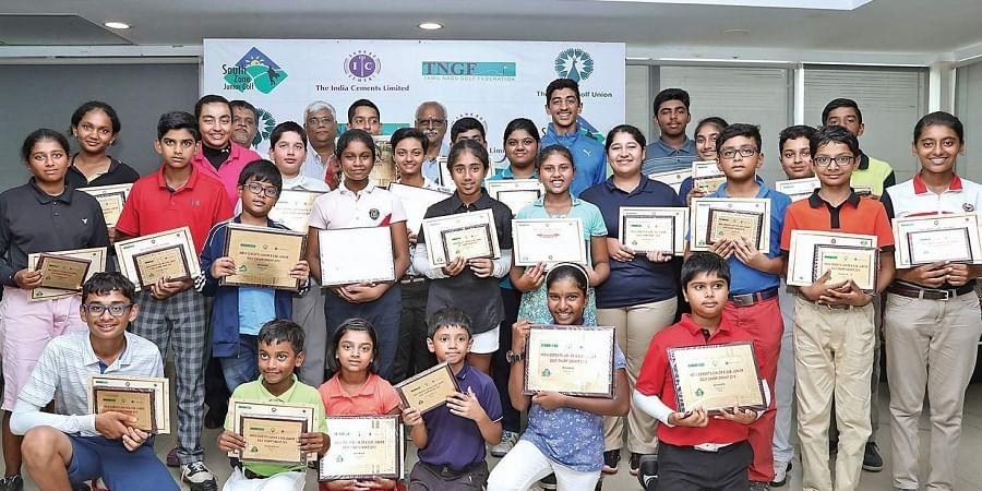 Winners of the IGU- South Zone Junior, Sub-Junior Golf Championships
