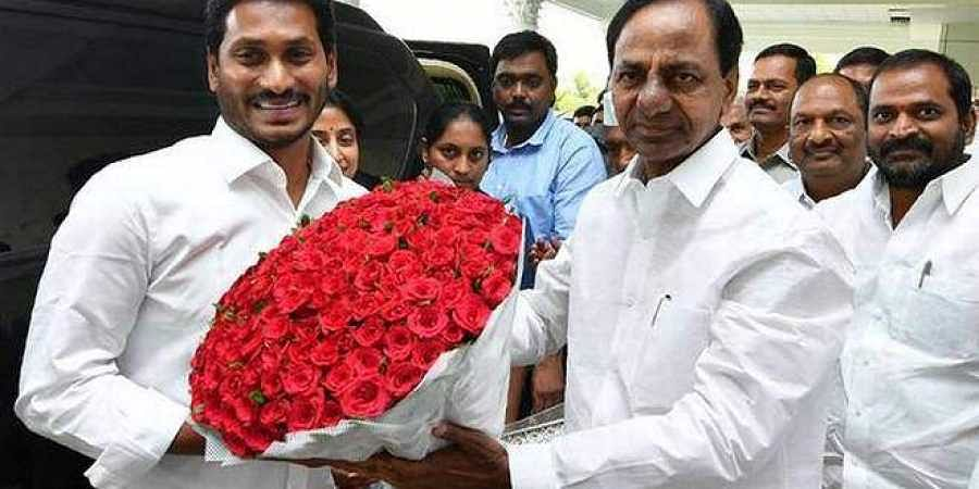 Telangana CM KCR and his Andhra counterpart Jagan Mohan Reddy