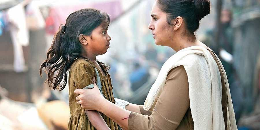 A scene from the latest Netflix show starring Huma Qureshi, 'Leila'.