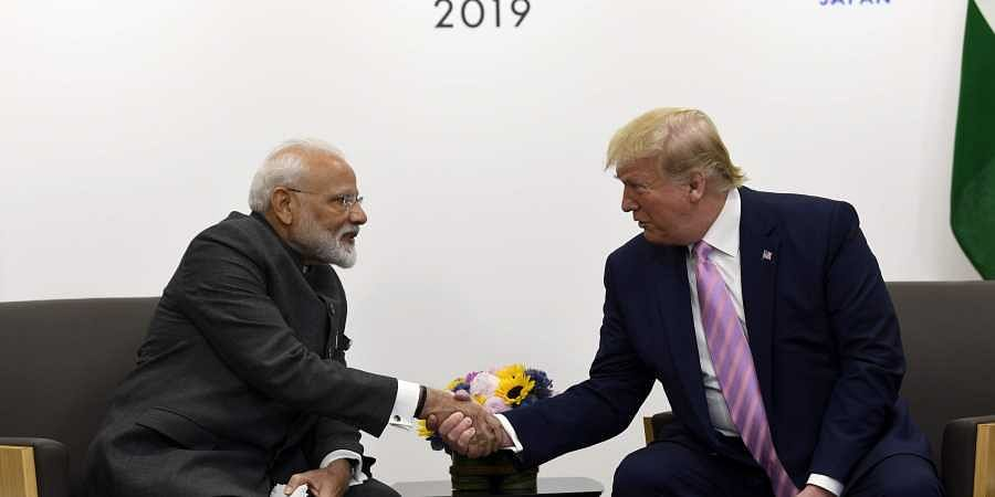 PM Narendra Modi meets US President Donald Trump during a meeting on the sidelines of the G-20 summit in Osaka, Japan, Friday, June 28, 2019. ( Photo | AP)