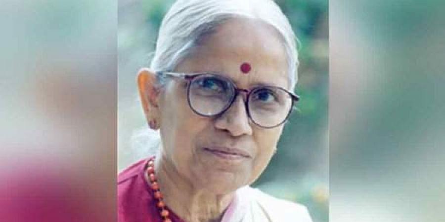 Telugu fiction writer Abburi Chayadevi (Photo   Twitter)