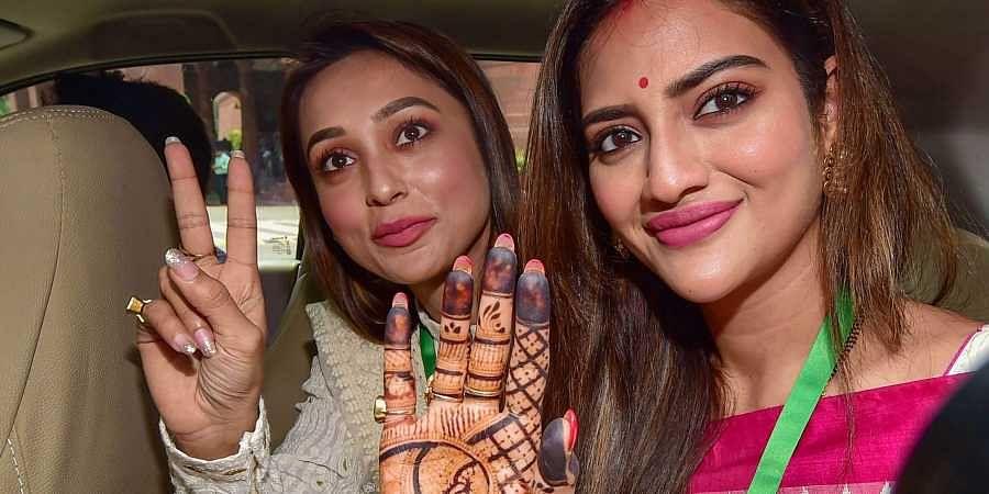 Mimi Chakraborty and Nusrat Jahan