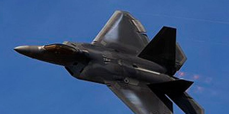 Air Force F-22 Raptor stealth fighters have been deployed 'to defend American forces and interests,' the US Air Forces Central Military Command said in a statement.