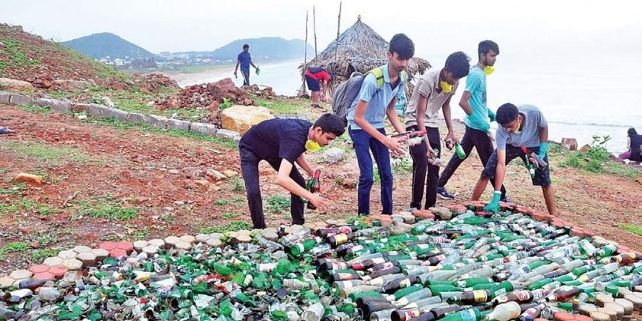 IYFS-100 day campaign: Youth clear up 9 7 ton liquor bottles, 1,600