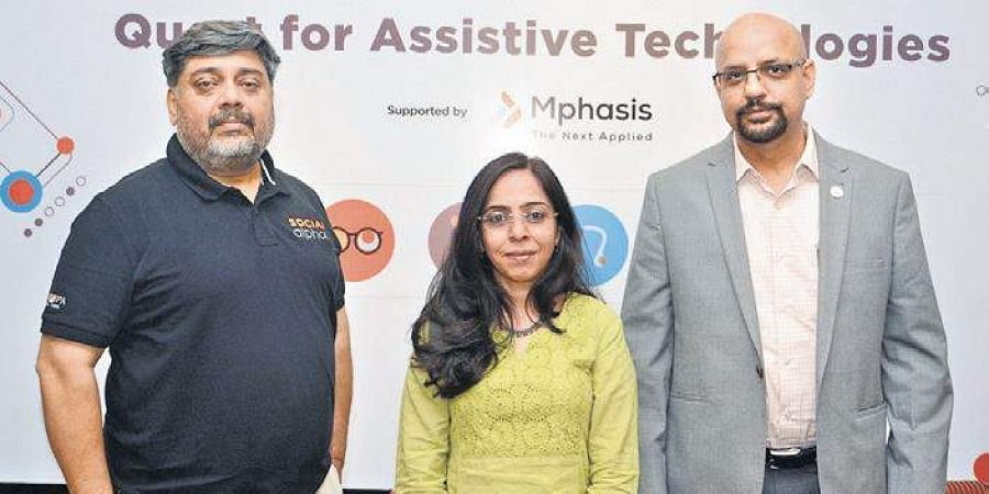 Manoj Kumar (Tata Trusts), Meenu Bhambhani (Mphasis) and Dr Manish Diwan (BIRAC) will fund organisations using Assistive Technology to improve lives of the disabled.