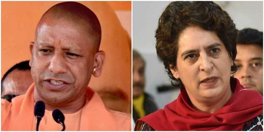 L-R: Uttar Pradesh CM Yogi Adityanath and Congress General Secretary Priyanka Gandhi Vadra. (Photos   File)