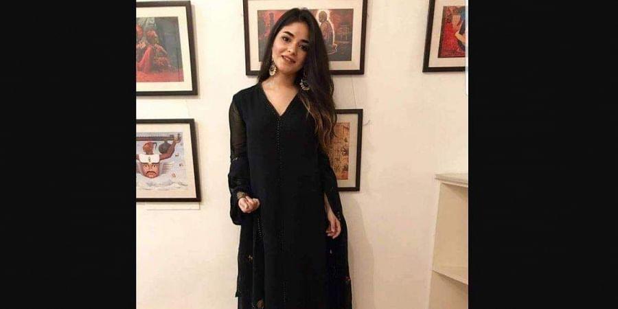 Actress Zaira Wasim (Photo   Facebook)