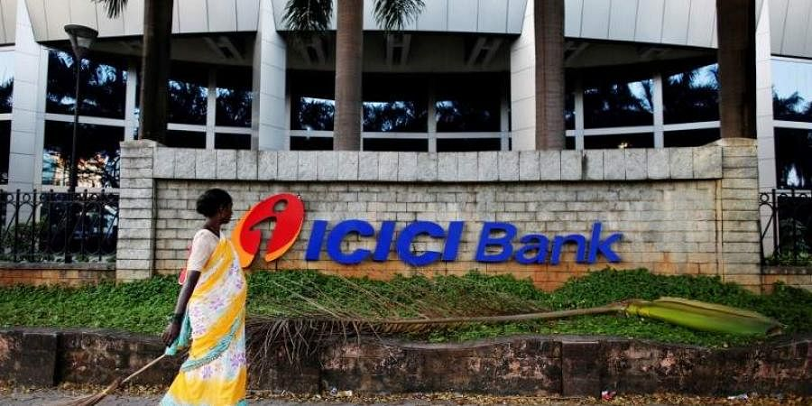 Logo of ICICI Bank at its headquarters in Mumbai