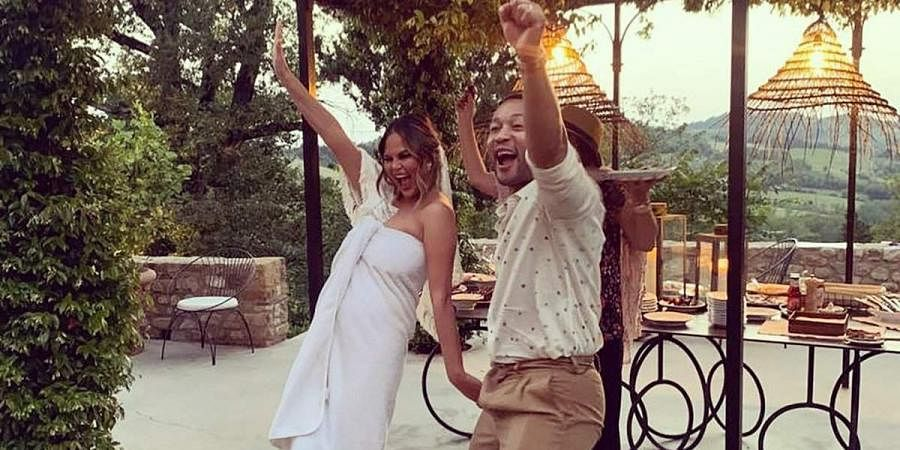 Chrissy Teigen Remarries John Legend In 'Four Weddings