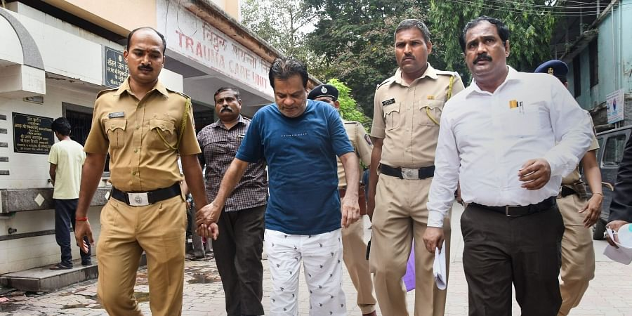Dawood Ibrahim s brother Iqbal Kaskar being taken to a civil hospital for routine check up in Thane on 7 june 2019. (Photo | PTI)