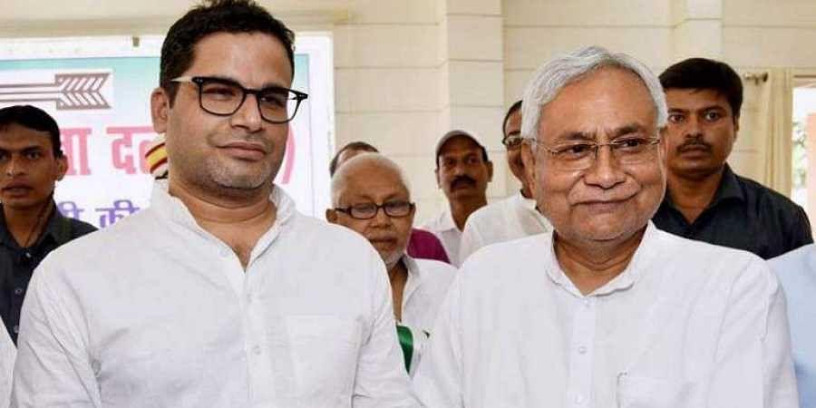 JDU vice president Prashant Kishor with party chief Nitish Kuamr (Photo | File, PTI)