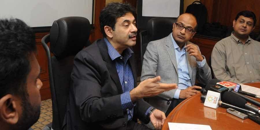 Jayesh Ranjan (left), secretary IT Electronics and Communication