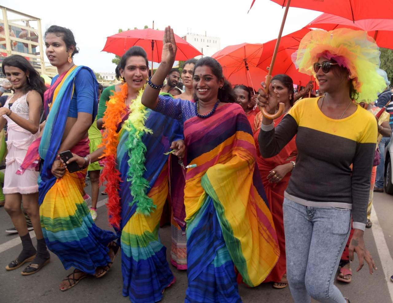 Pride march LGBTQ rainbow