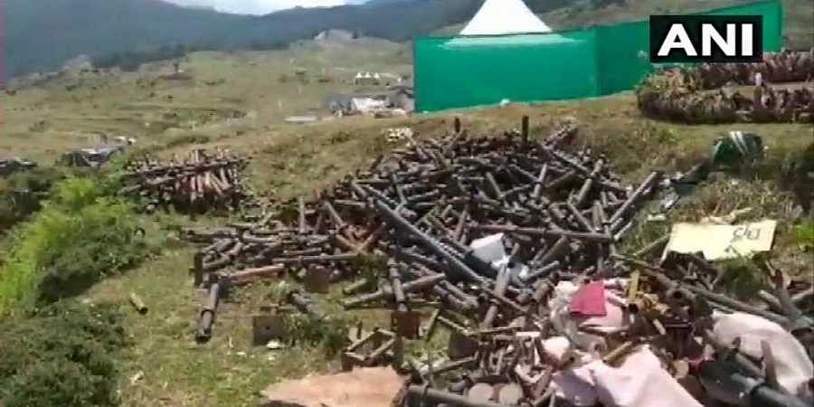 Work underway by Municipal Corporation to clean up the garbage and waste left behind in Auli after the marriage of members of the Gupta family of South Africa, at the hill station held between 18 to 22 June.