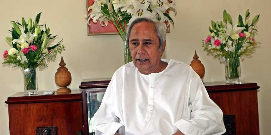 Chief Minister Naveen Patnaik of Odisha at his residence