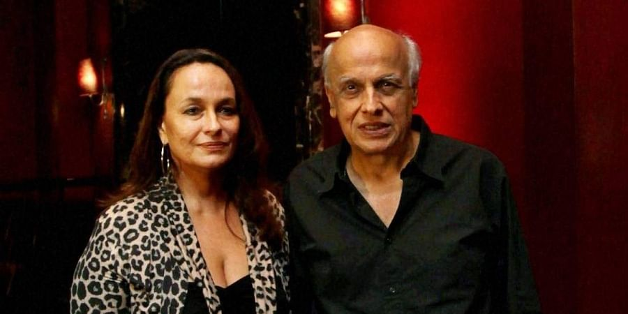 Bollywood director Mahesh Bhatt poses with wife Soni Razdan.
