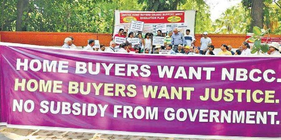 Jaypee home buyers have no option but to protest for their rights.