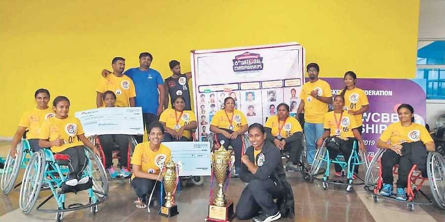The Tamil Nadu Women's Wheelchair Basketball team placed second in the Nationals held by the Wheelchair Basketball Federation of India