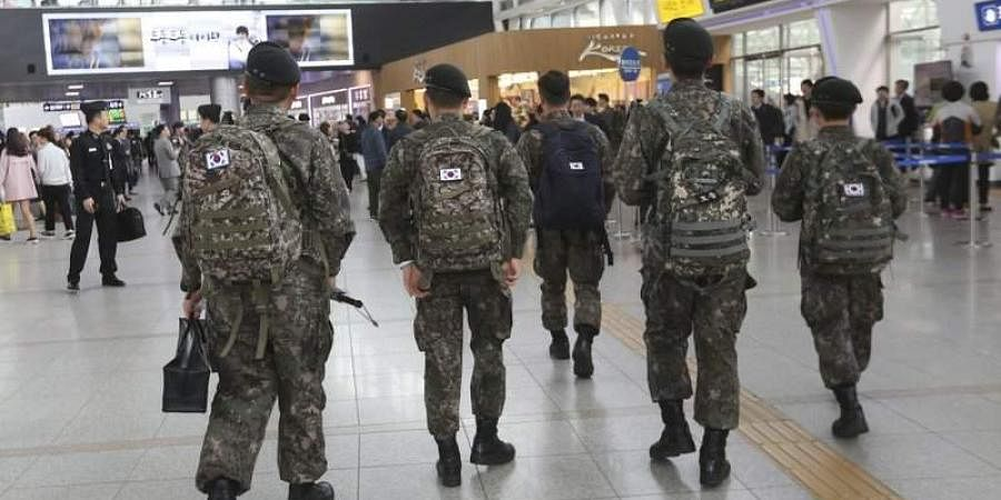 South Korean army soldiers (Photo | File, AP)