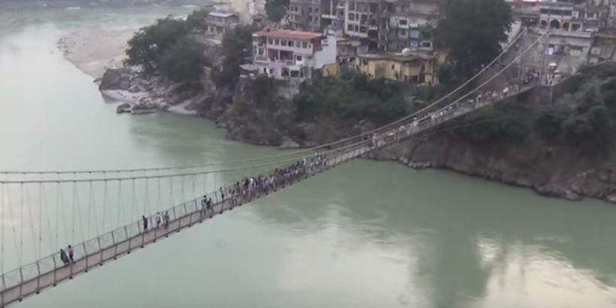 Rishikesh's iconic Laxman Jhula bridge