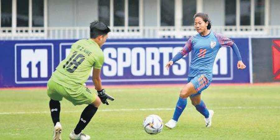 The women's football team is currently undergoing a camp in New Delhi