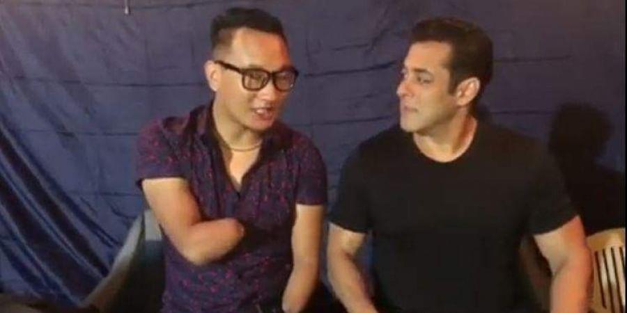 Thupten Tsering and Salman Khan