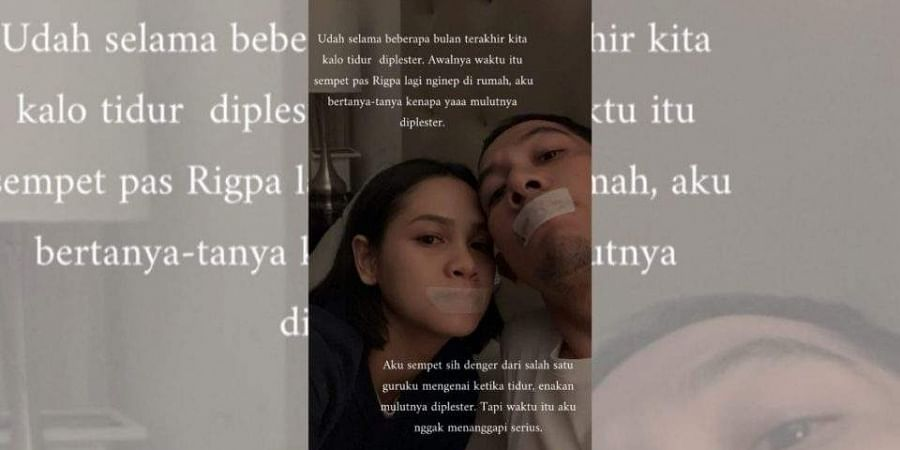Indonesian jazz singer Andien popularized a sleeping technique, which involves sleeping with one's mouth shut with surgical tape. (Photo | Andien Aisyah Instagram)