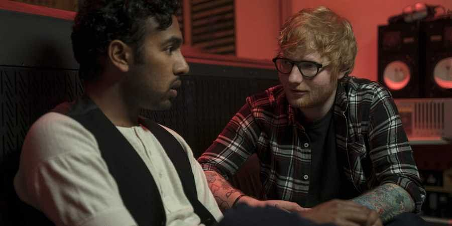 Himesh Patel, left, and Ed Sheeran in a scene from 'Yesterday.'