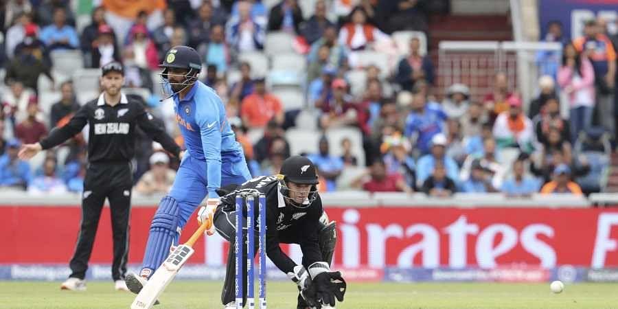 Ravindra Jadeja takes a run against New Zealand
