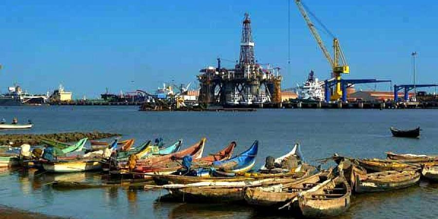 A view of Kakinada Port in Andhra Pradesh.
