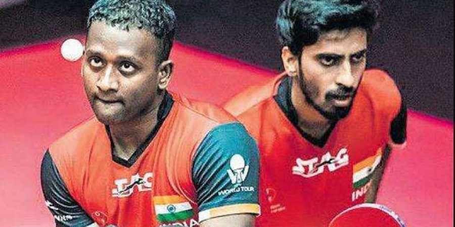 G Sathiyan and Anthony Amalraj