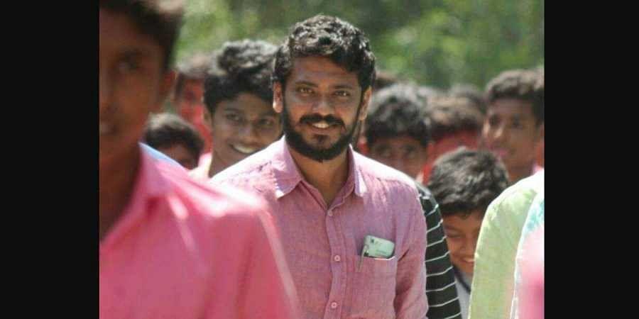 Students' Federation of India (SFI) National President V P Sanu. (Photo   V P Sanu Facebook)