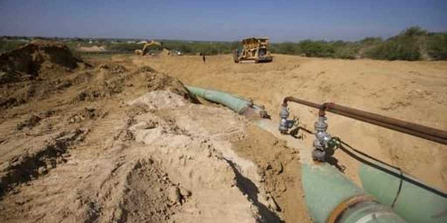 AP file image of pipelines to carry gas used for representational purpose only
