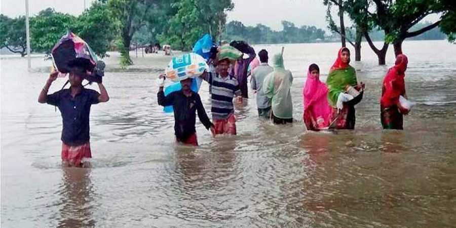 On Tuesday, 26.41 lakh people in 571 panchayats of 79 blocks in the affected districts were said to be affected.