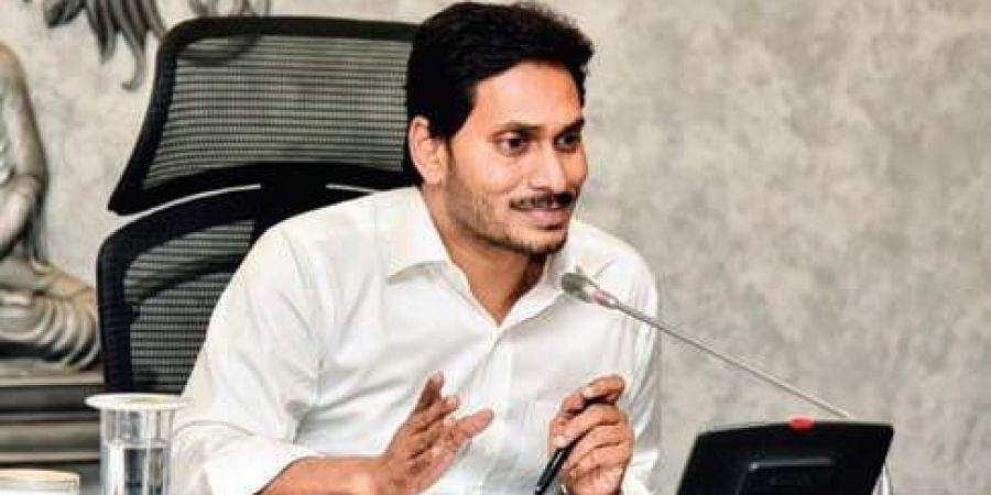 Chief Minister YS Jagan Mohan Reddy during a video conference on Spandana at the State Secretariat on Tuesday.