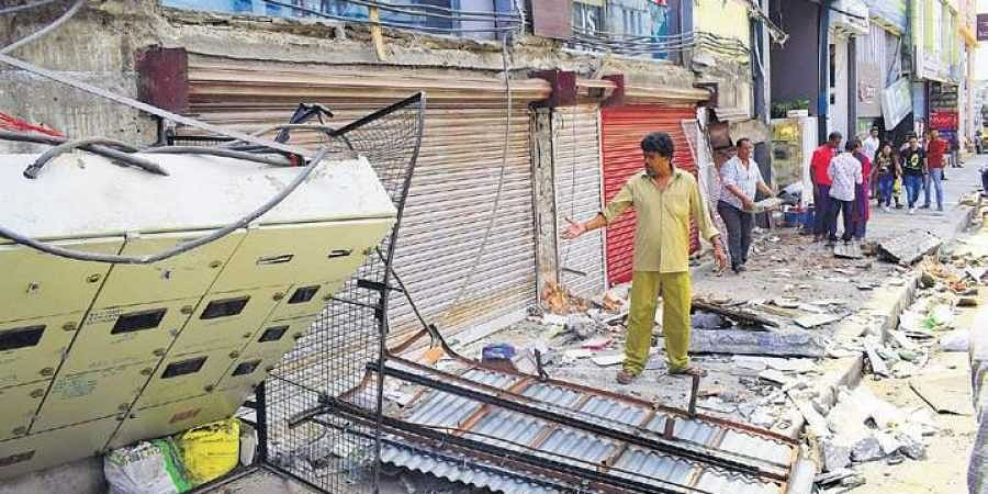 Encroachments being cleared out in Bengaluru's Kamaraj road