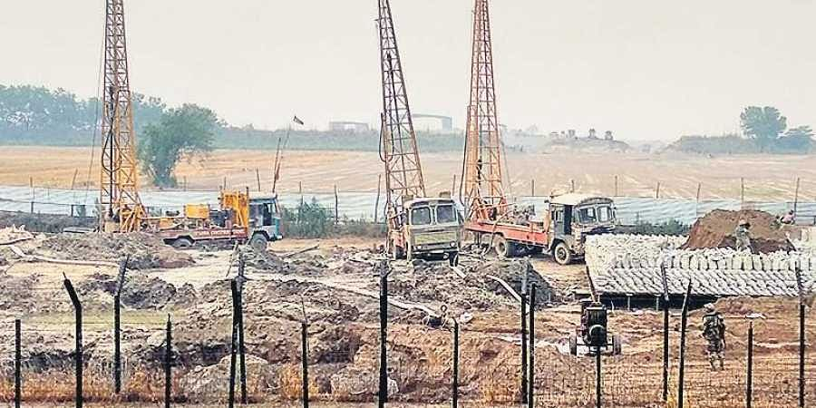 Work being carried out for the Kartarpur Corridor on the Indian side. (File Photo)