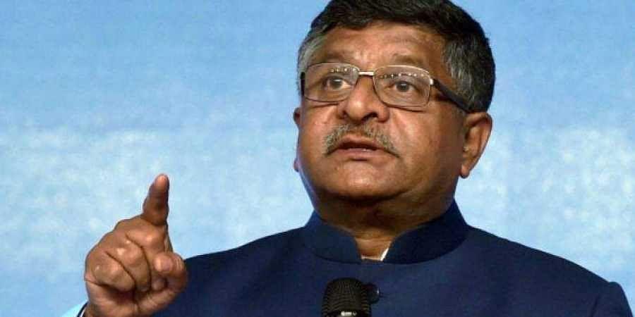 Union Law and IT Minister Ravi Shankar Prasad