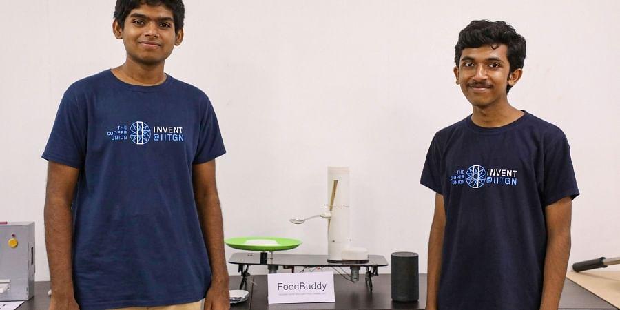 IIT Gandhinagar students Praveen Venkatesh and Chris Francis