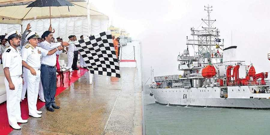 INS Sagardhwani sets out on training and research mission