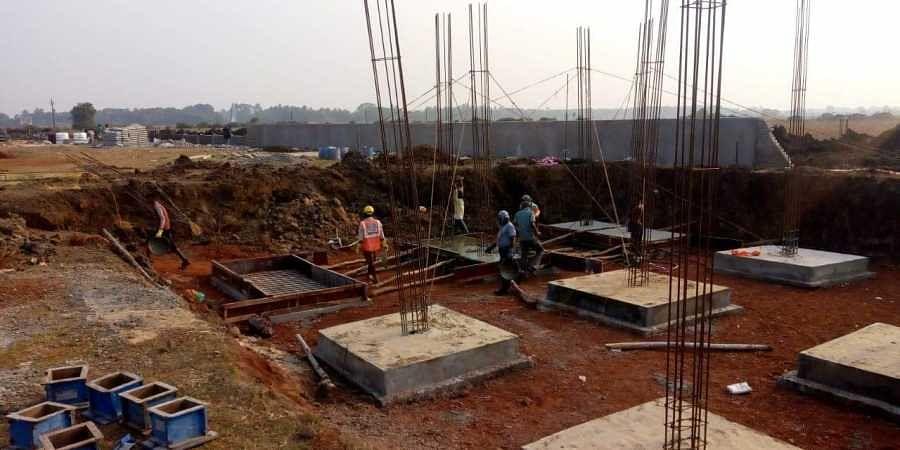 Construction work undertaken by RWSS in Kendrapara.