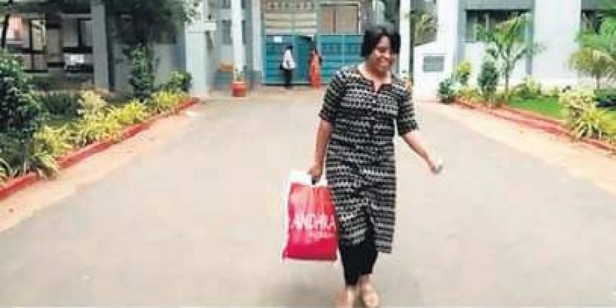 Revathi Pogadadanda, former CEO of MOJO TV gets bail and leaves jail in Hyderabad on Friday.