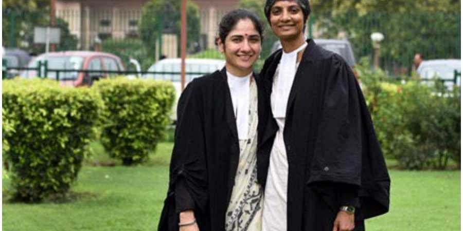 Lawyers Menaka Guruswamy and Arundhati Katju (Photo| Twitter)