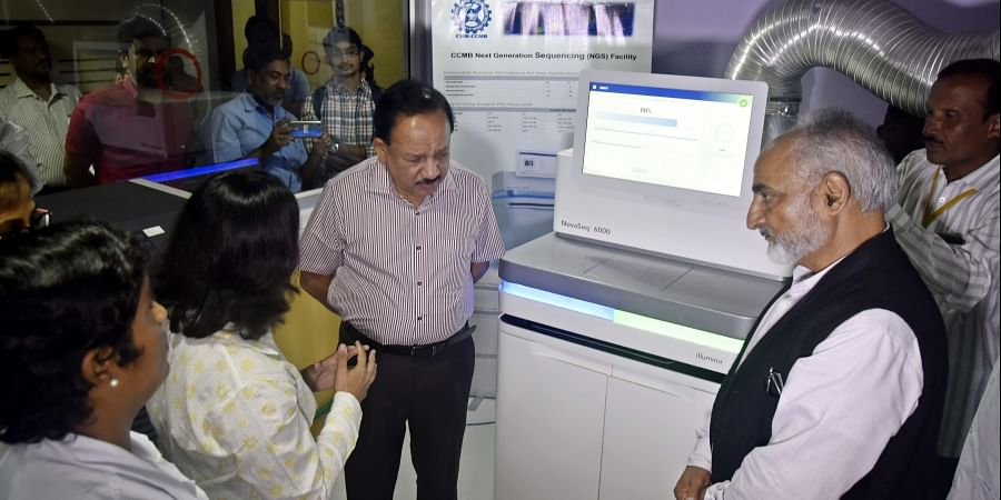 Union Minister Dr Harsh Vardhan inaugurated the new state of the art Genomic Sequencing Facility at Centre for Cellular and Molecular Biology.