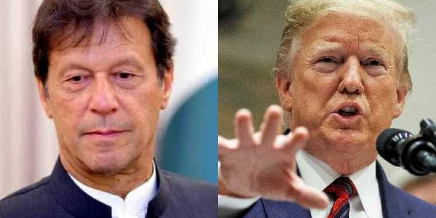 Pakistan PM Imran Khan(L) and US President Donald Trump