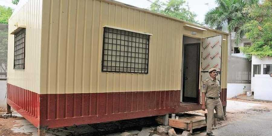 Portable barrack replaces worn-out tents for TSSP men